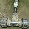 Csőtörés vízóra aknában