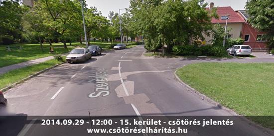 Csőtörés a XV. kerületben a Szerencs-Hősök utca sarkán